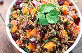Ensalada de calabaza y quinoa
