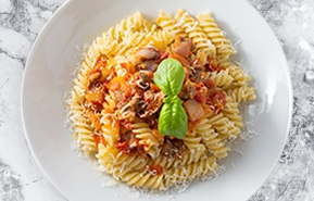 Fusilli morixe with lamb ragout